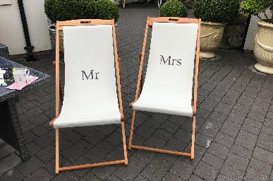 Mr & Mrs Deck Chairs