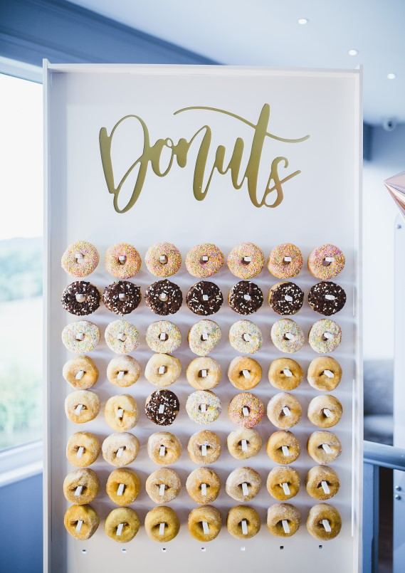 Large Floor Standing Donut Wall